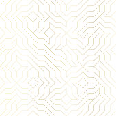 Seamless golden geometric pattern