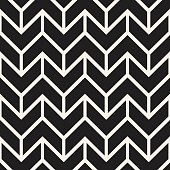 Seamless vector pattern. Abstract geometric lattice background. Rhythmic zigzag structure. Monochrome stylish texture with chevron lines.
