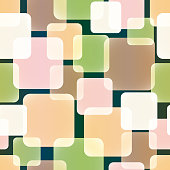 Seamless Vector Pattern of Overlap and Transparent Squares  in Warm Tones. Appropriate for Textile, Packing Materials, Website Backgrounds.
