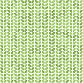 Seamless vector pattern with green leaves. Decorative greenery print