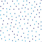 Seamless vector pattern with rain drops.