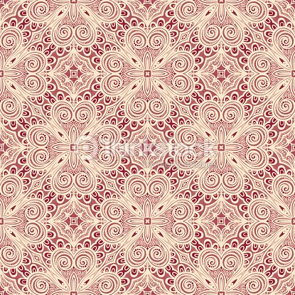 Seamless Vintage Lace Pattern Vector