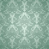 Seamless damask wallpaper pattern, vector illustration