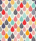 seamless water drops dots pattern