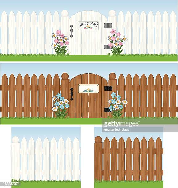 Picket fence stock illustrations and cartoons getty images