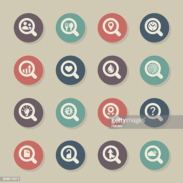 Search Engine Set 2 Icons - Color Circle Series