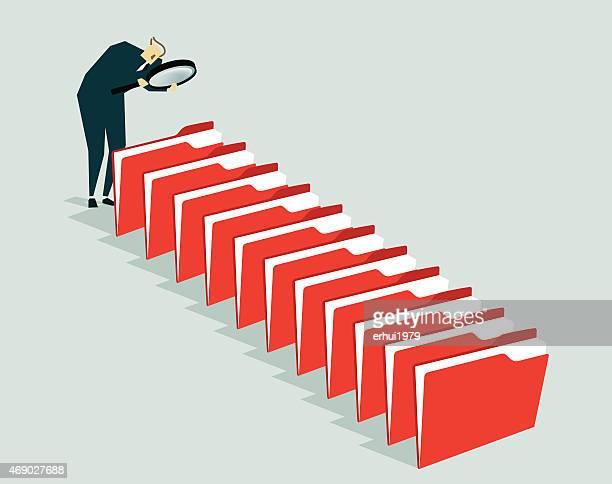 La recherche, l'Administrateur, fichier-Illustration