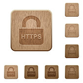 Secure https protocol on rounded square carved wooden button styles