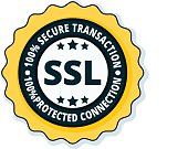 SSL Secure label illustration