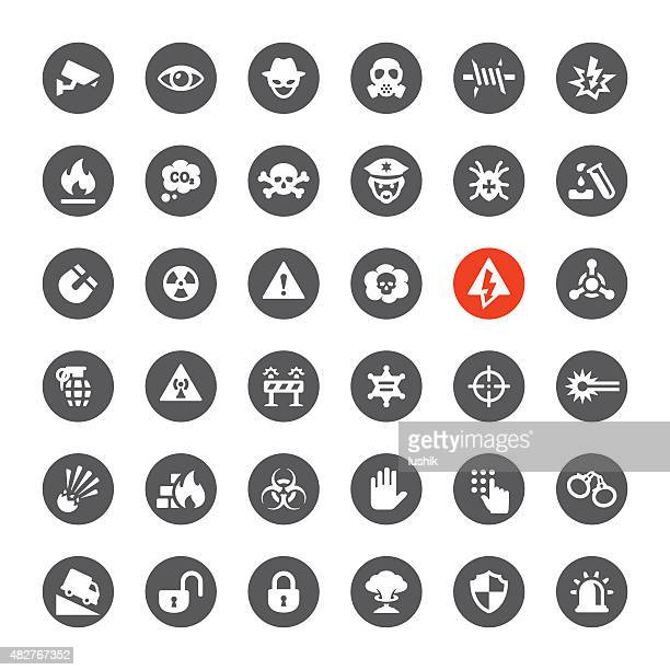 Security and Danger vector icons
