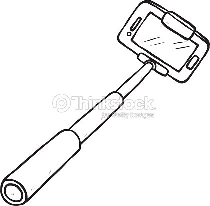 selfie stick and smartphone vector art thinkstock. Black Bedroom Furniture Sets. Home Design Ideas