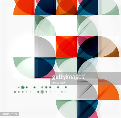 Semicircle Dreieck Muster : Vektorgrafik