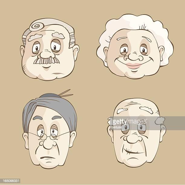 Ältere Gesichter