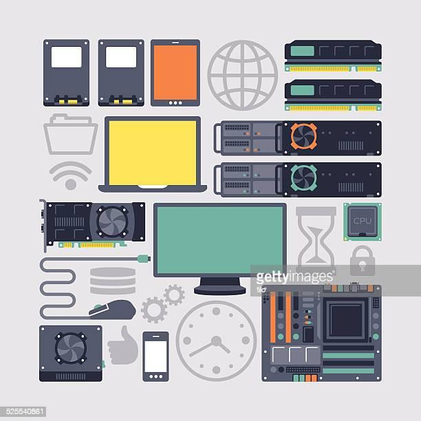 Server Hardware and Computing Modern Flat Equipment