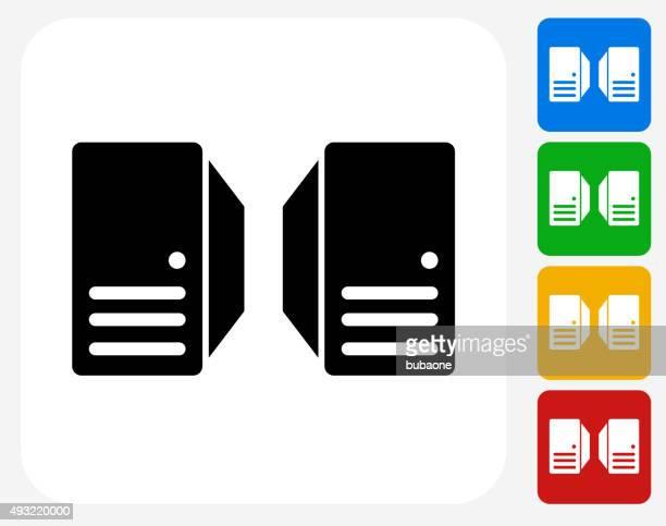 Server Icon Flat Graphic Design