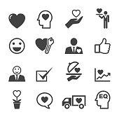 service mind icons, mono vector symbols