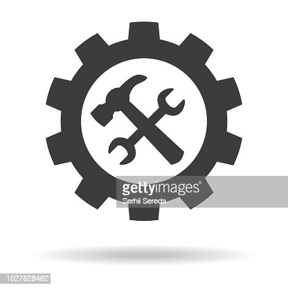 Service tool icon on white background. : stock vector