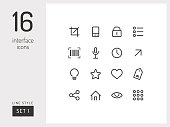 Universal linear icons to use in web and mobile app.