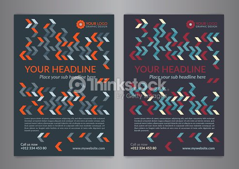set a5 a4 business brochure flyer design layout template ベクトル