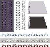 Set binder spring isolated on white. Vector illustration