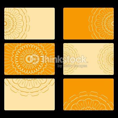 Set Carte De Visite Decor Vecteur Mandala Arabe Indien Ottoman Des Motifs Pour Linvitation Flyer