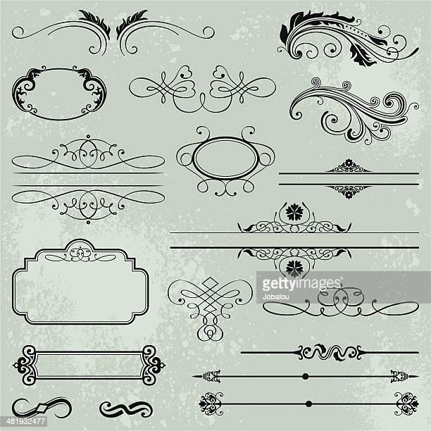 Set d'Éléments calligraphiques