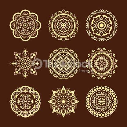 La Valeur De Repetition Circulaire Sous La Forme De Mandala Mandala