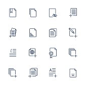 Set document icons, paper icons. EPS 10