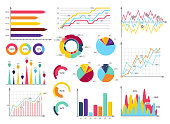Set elements of infographics. Info bars, graphycs