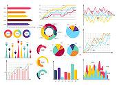 Set elements of infographics. Info bars, graphycs