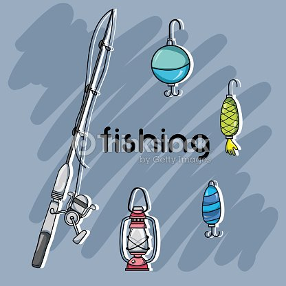 Set fishing recreation with special tools