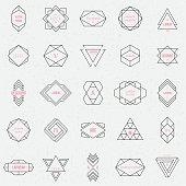 Triangles. Line design elements, vector illustration