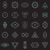 Line design elements, vector illustration