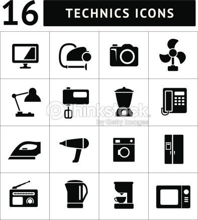 Set icons of home technics and appliances vector art thinkstock - Home appliances that we thought ...