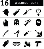 Set icons of welding isolated on white. This illustration - EPS10 vector file.