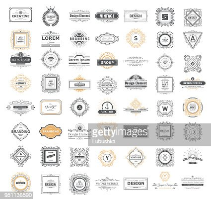 Set luxury sign : Vector Art