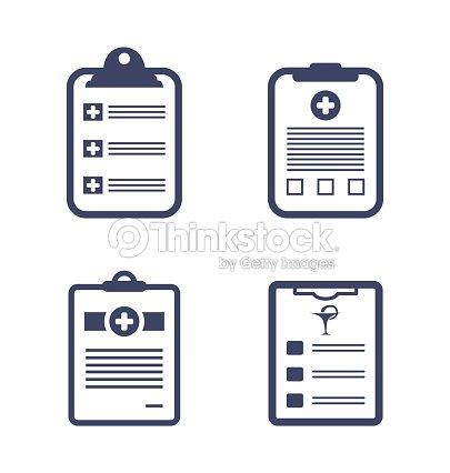 set medical records clipboard ベクトルアート thinkstock