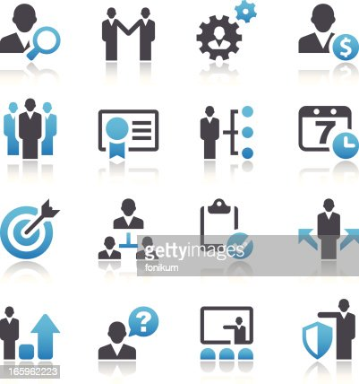 Set Of 16 Vector Business And Management Icons Vector Art ...