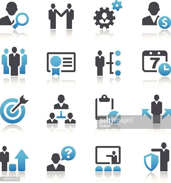 Satz von 16 Vektor-business-und management-Symbole