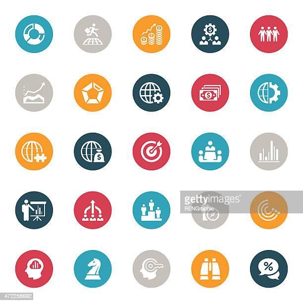 Icone di strategia aziendale