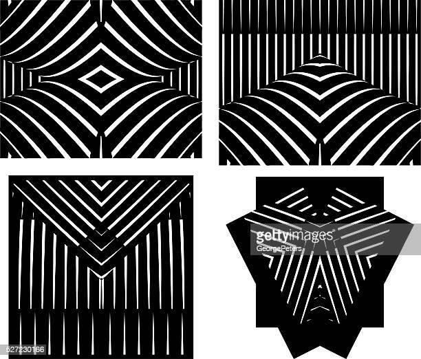 Ein Satz von 4 Halbton Muster Vektor-Ornamente