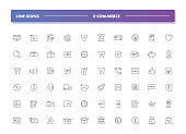Set of 60 line icons. E-commerce collection. Vector illustration for internet and online work