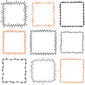 set of 9 decorative square frames vector art thinkstock