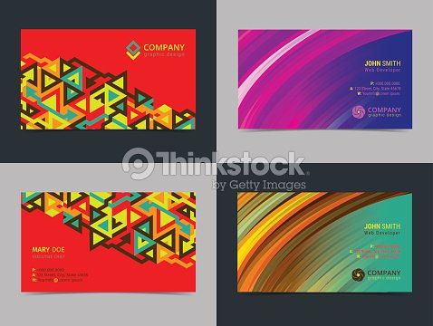 Set of abstract creative business card design layout template with set of abstract creative business card design layout template with colorful background modern backgrounds vector illustration reheart Images