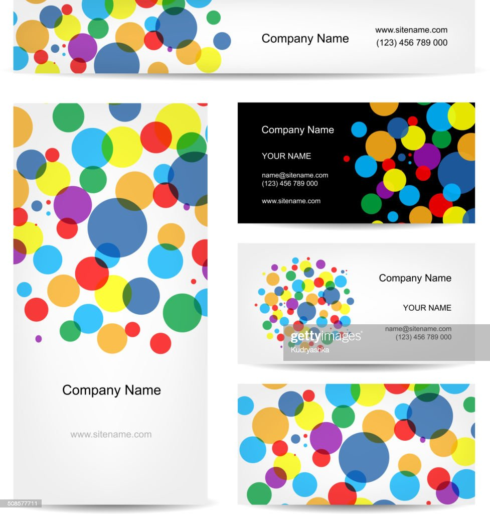 Set of abstract creative business cards design : Vector Art