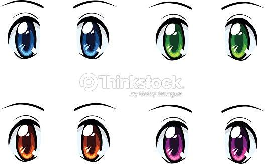 Set di anime occhi di diversi colori arte vettoriale thinkstock - Occhi colori diversi ...