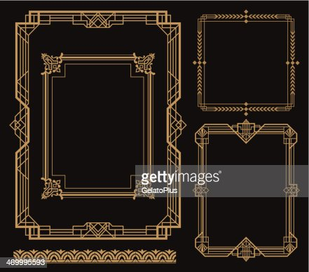 Art Deco Border Vector Art Getty Images