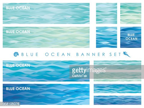 Set of assorted banners with wave patterns. : stock vector