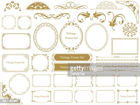 Set of assorted vintage frames. : stock vector