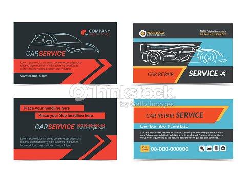 Ensemble De Modles Disposition Rparation Automobiles Du Service Cartes Visite Crez Vos